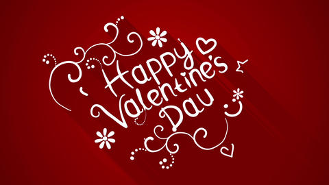 happy valentine's day text flat style animation Animation