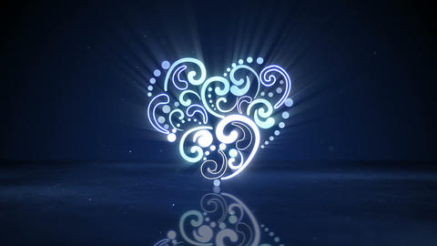 glowing neon heart shape loopable animation Animation