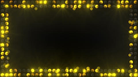 frame of yellow lighting bulbs loopable Animation