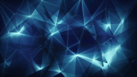 dark blue triangles web abstract background loop Animation