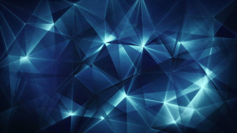 dark blue triangles web abstract background loop Stock Video Footage