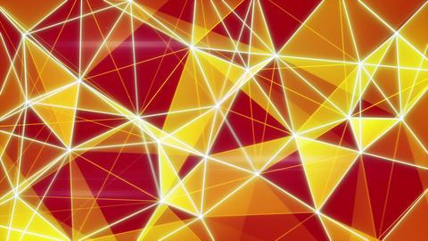 glowing orange network background seamless loop Animation