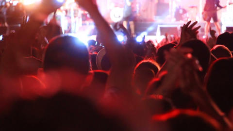 applauding crowd of fans at concert Footage