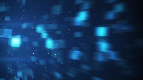blurred blue squares loopable background Animation