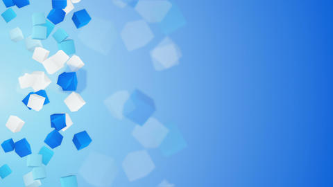 blue and white 3D cubes loopable background Animation