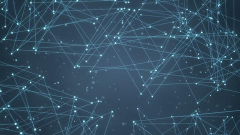 glowing futuristic network shape loopable background Animation