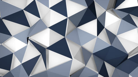futuristic techno polygon surface loopable background Animation