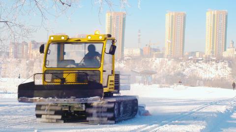 Snow removal machine Footage