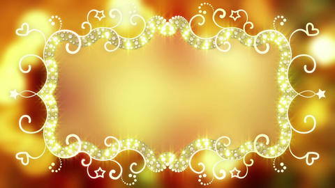 Glowing fancy banner loopable animation Animation