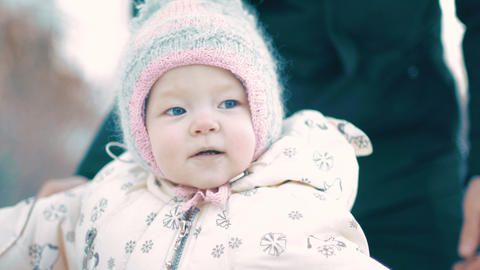 Baby Girl in snow suit Live Action