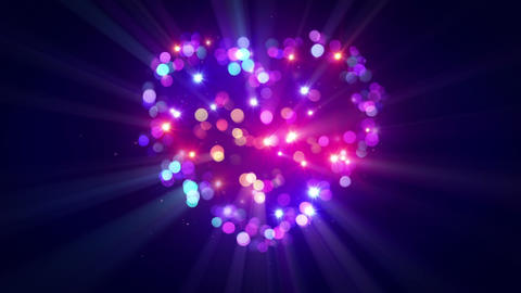Colorful heart shape disco flashing loopable animation Animation