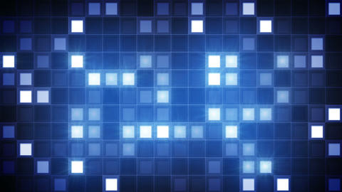 glittering blue squares loopable background Animation