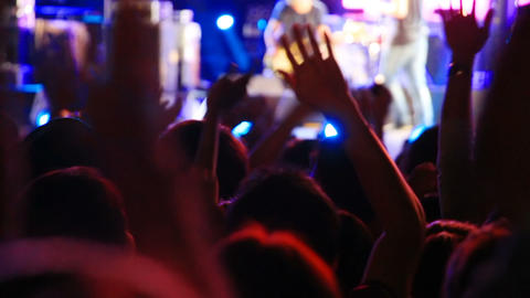 people raising hands at concert Footage