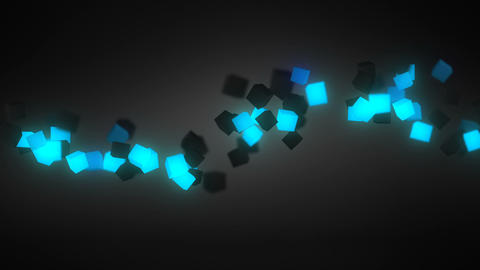 Glowing blue 3D cubes wave loopable background Animation