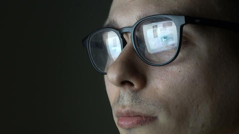 Portrait of Programmer working in glasses Footage