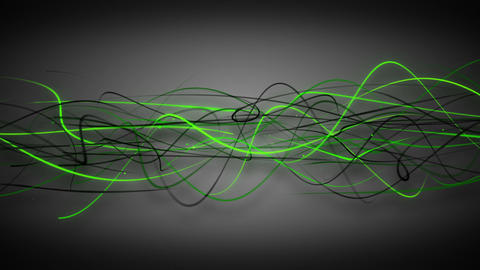 Dark green curved lines loop background Animation