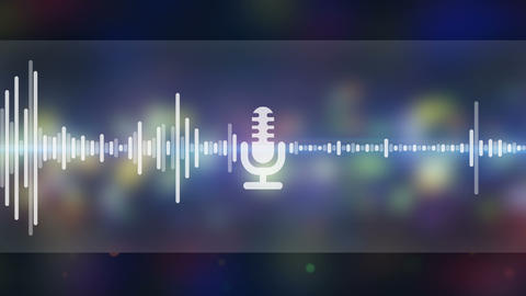 Music equalizer party background seamless loop Animation