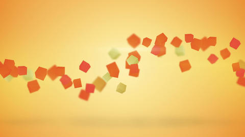 Orange 3D cubes abstract loopable background Animation