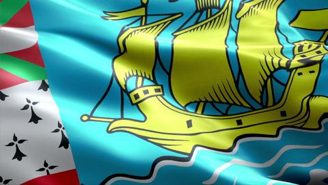 Flag Saint-Pierre-and-Miquelon Animation