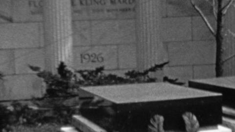 1963: Famous figure fancy gravestone memorial hero worship site Footage