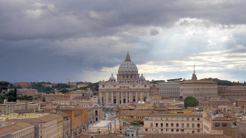 Rome, Italy - The Vatican City Overview And The St. Peter's Basilica stock footage