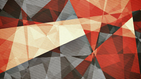 Retro vintage coloured rotating triangles abstract background Animation
