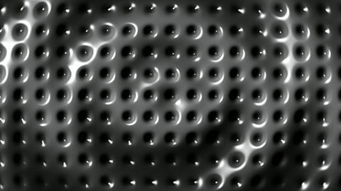 Rippled surface of metal plate background seamless loop Animation
