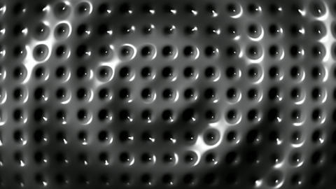 Rippled surface of metal plate background seamless loop Stock Video Footage