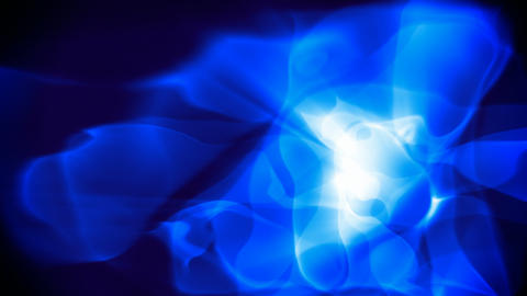 Abstract soft blue glowing curves motion background CG動画素材