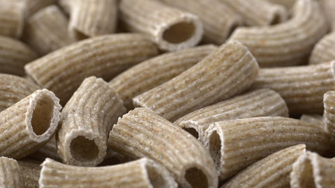 Raw rye rigatoni low angle shallow depth of field rotating Live Action