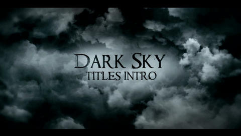 DARK SKY TITLES INTRO After Effects Template