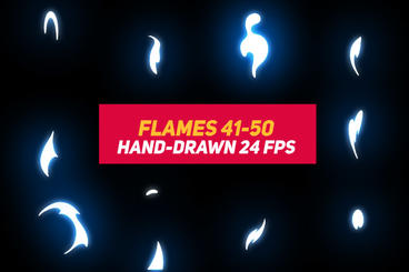 Liquid Elements 2 Flames 41-50 After Effects Template