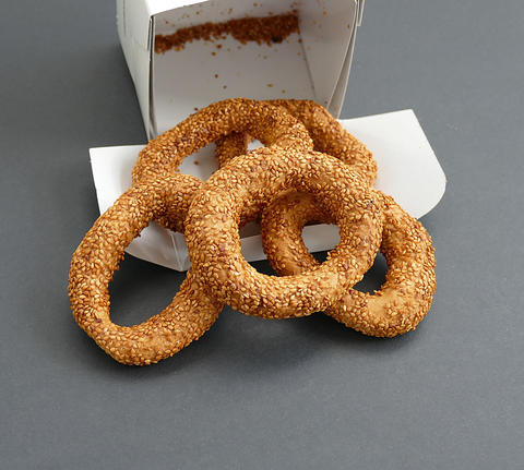 turkish ring biscuit, Kandil Sesame Rings in special box Fotografía