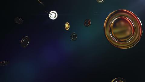 Casino chips gold with dark background 애니메이션