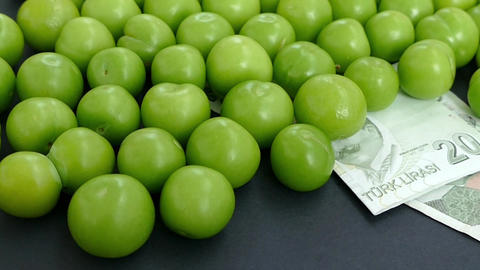 fresh green sour plum prices are very expensive Footage