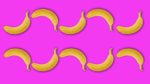 Minimal Motion Art, Banana on the rose 영상물