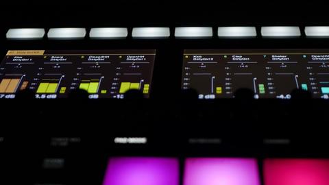 Audio samples with specific adjustable level in futuristic professional device ภาพวิดีโอ