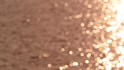 Bokeh Dancing Sunlight On Water Waves. (shift white balance) Footage