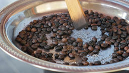 Coffee beans roasting Live Action