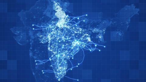 [alt video] Blue India Map Network