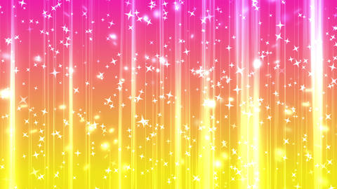 shining star rising background yellow pink CG動画素材