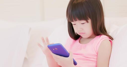 cute girl play phone Footage