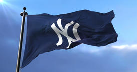 Flag of the team of the New York Yankees, american professional baseball team, Animation