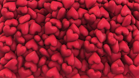 Background of a variety of red hearts Animation