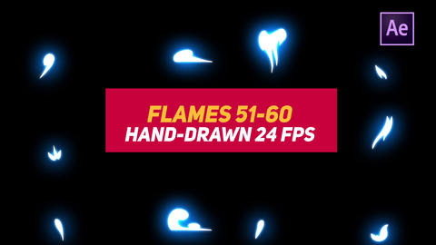 Liquid Elements 2 Flames 51-60 After Effects Template