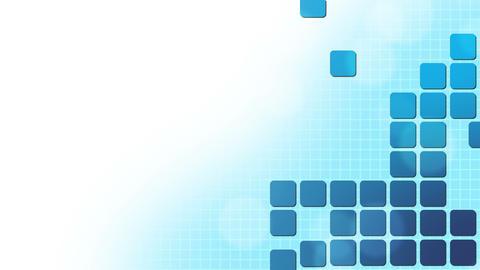 Blue Square Puzzle Background Animation