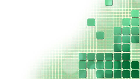 Green Squares Puzzle Background Animation