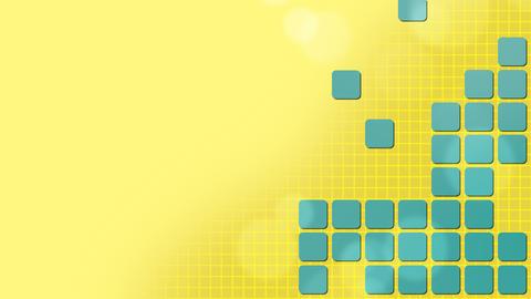 Vibrant Colors Squares Puzzle Background Animation