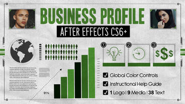 Business Profile Plantilla de After Effects
