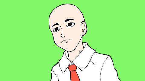 Cartoon skinhead Animación